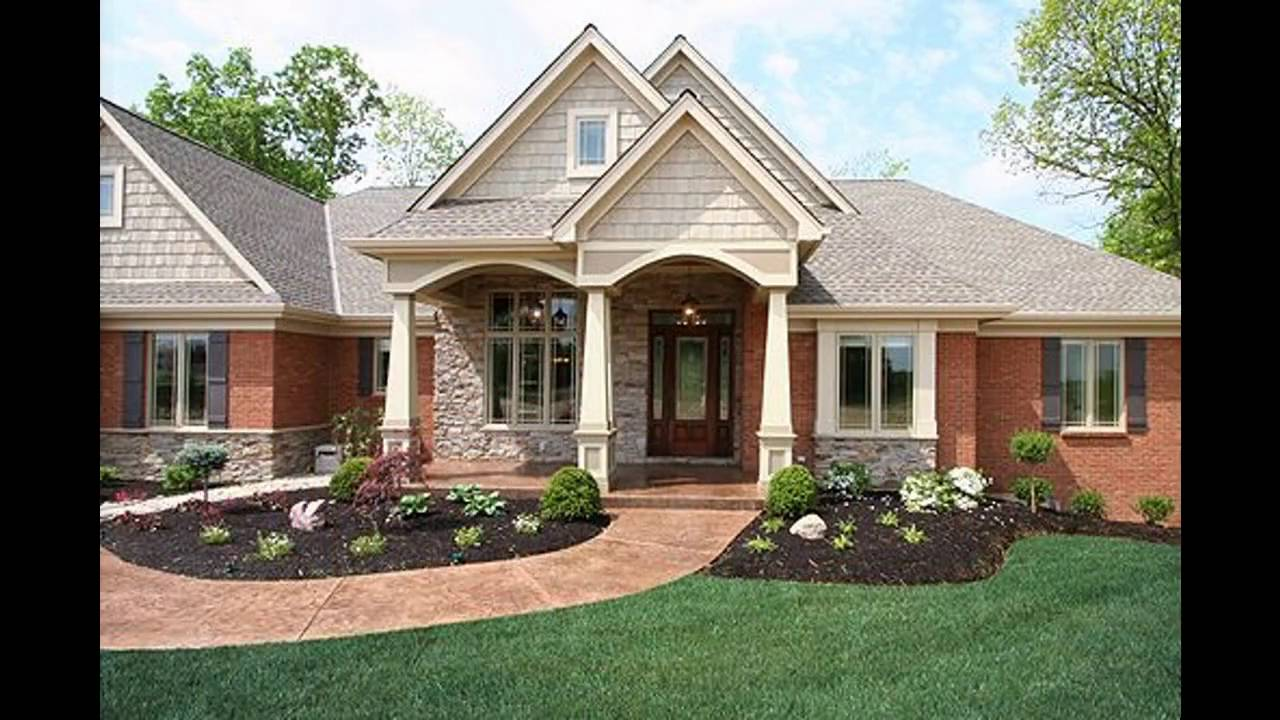 Red brick home exterior ideas - YouTube on Brick House Painting Ideas  id=75025