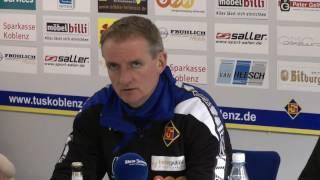 Pressekonferenz der TuS Koblenz nach dem Spiel gegen Hoffenheim II
