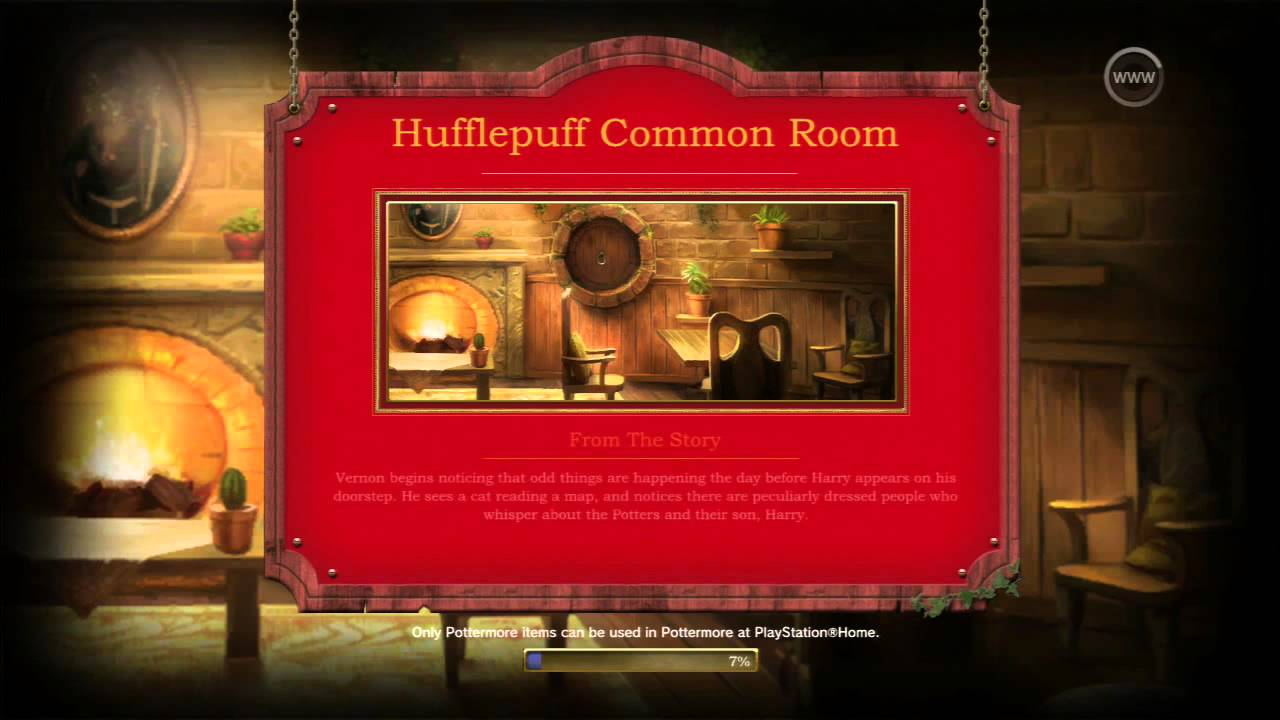 Pottermore - PS Home - Hufflepuff Common Room - YouTube