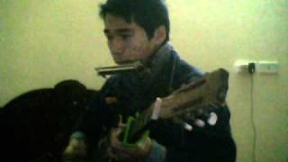 """Song tấu Guitar+ Harp """"Gót hồng"""" Cover by BachLongCd"""