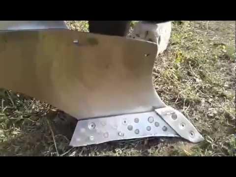 Купить плуг на мотоблок полтавский, поворотный, двухкорпусный, универсальный, с ножем, заря по низким ценам от 140 грн.