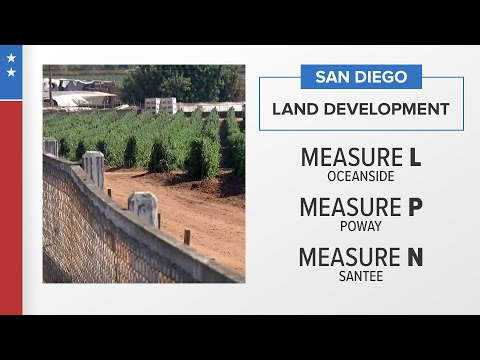 San Diego County land development measures on the ballot in Oceanside, Poway, and Santee