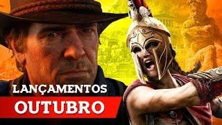 LANÇAMENTOS DE GAMES - OUTUBRO 2018 PS4, XBOX ONE, PC, SWITCH