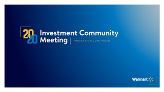 2020 Investment Community Meeting
