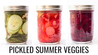 How to Pickle Vegetables | FAST + EASY