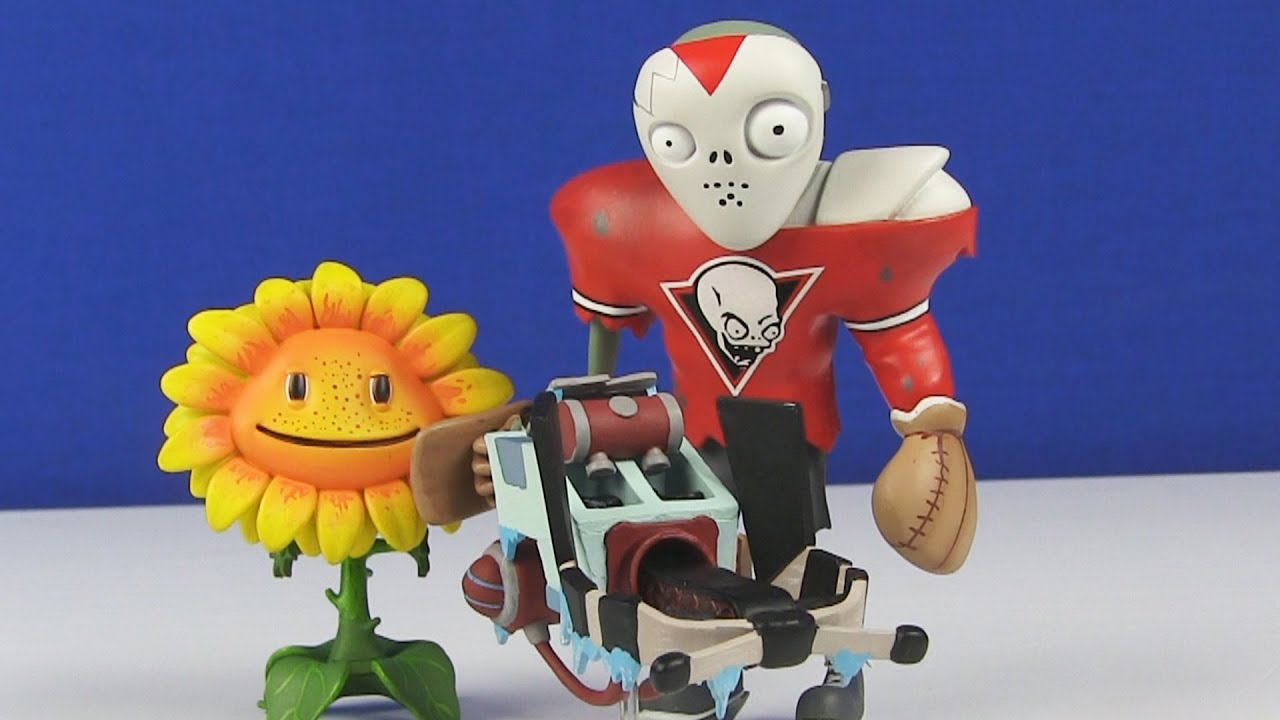 Plants Vs Zombies Garden Warfare Goalie All Star And Sunflower Toy Review Youtube