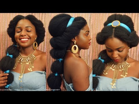PRINCESS JASMINE INSPIRED HALLOWEEN LOOK ON NATURAL HAIR