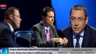 Victor Ponta și Moise Guran despre proiectul Roșia Montană, la TVR1