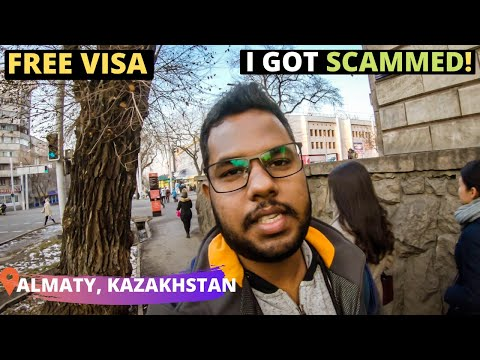 My First Day in Kazakhstan : Tourist Scam (BE AWARE) 😭 | Free Transit Visa