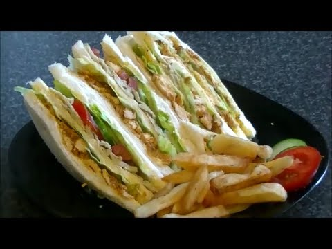 Chicken Tikka Club Sandwich Cook With Faiza