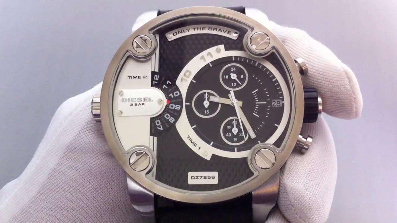 ddca3b5a3 Men's Diesel SBA Oversized Big Chronograph Watch DZ7256 - YouTube