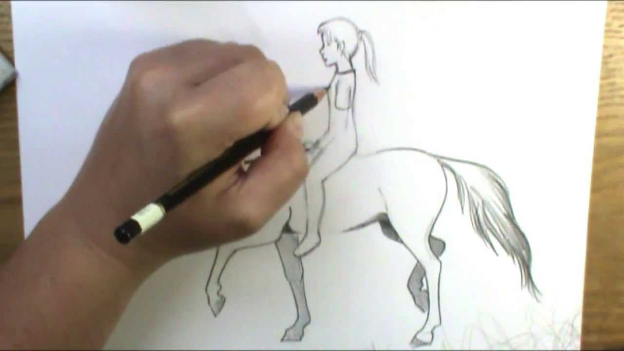 How to draw a horse and rider bareback youtube ccuart Gallery