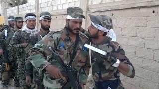 عصائب اهل الحق لواء كفيل زينب سوريا 2017 نزول للمعركة
