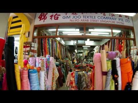 Fine Textile, Fabric, and Tailor Stores on Arab Street in