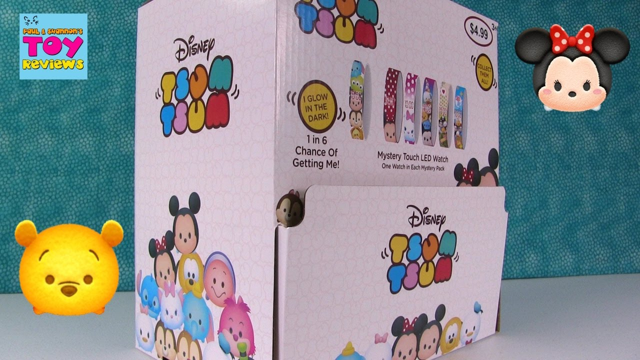 Disney tsum tsum led watches blind bag opening toy review pstoyreviews youtube for Tsum tsum watch