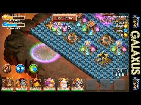 Castle Clash-Insane Dungeons 1.3 & 1.4 + Lvl 3 Life Drain Crest Set