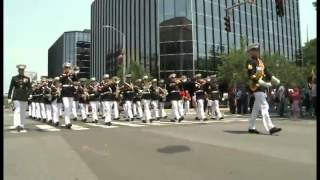 Parris Island Marine Band Playing the Marines