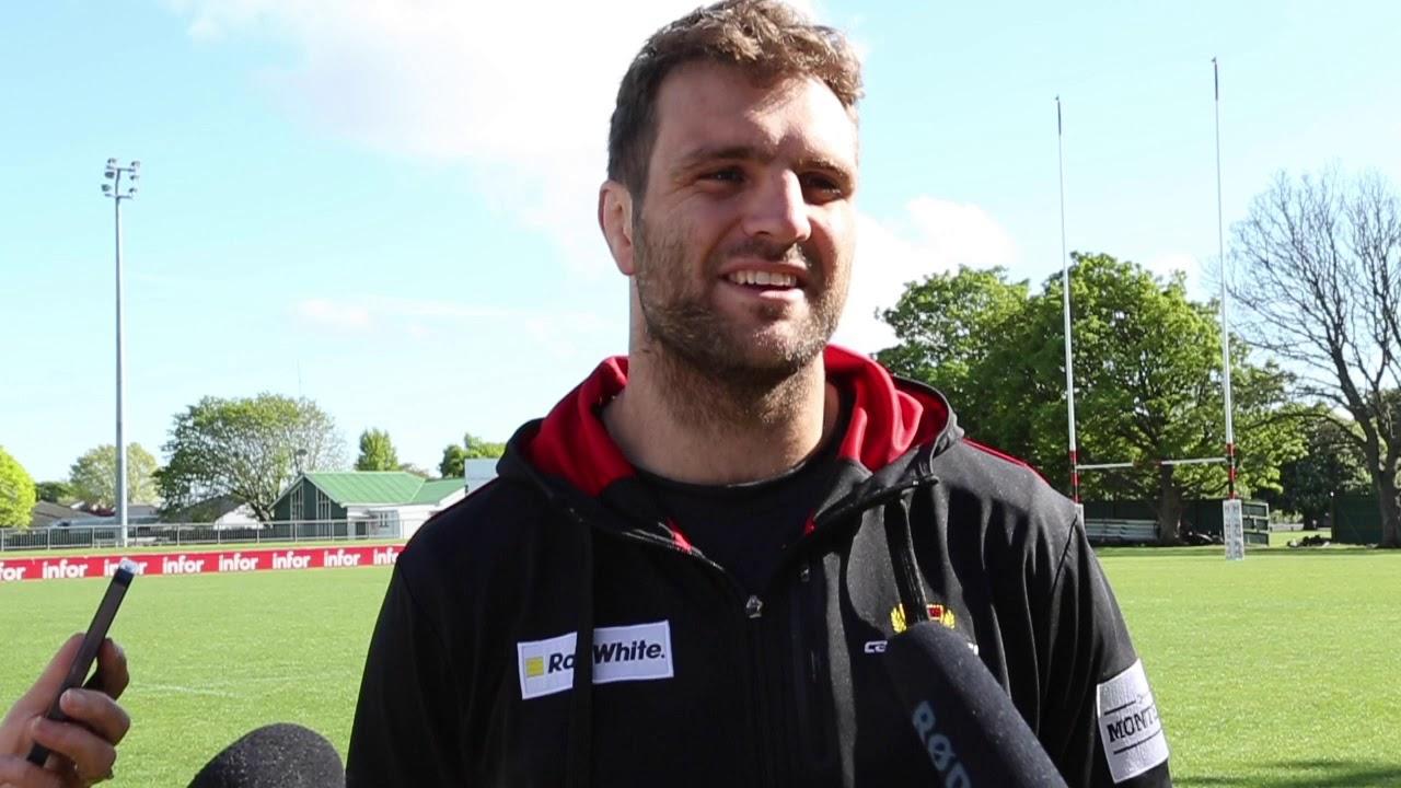 Luke Whitelock - Canterbury Rugby media session Final v Auckland