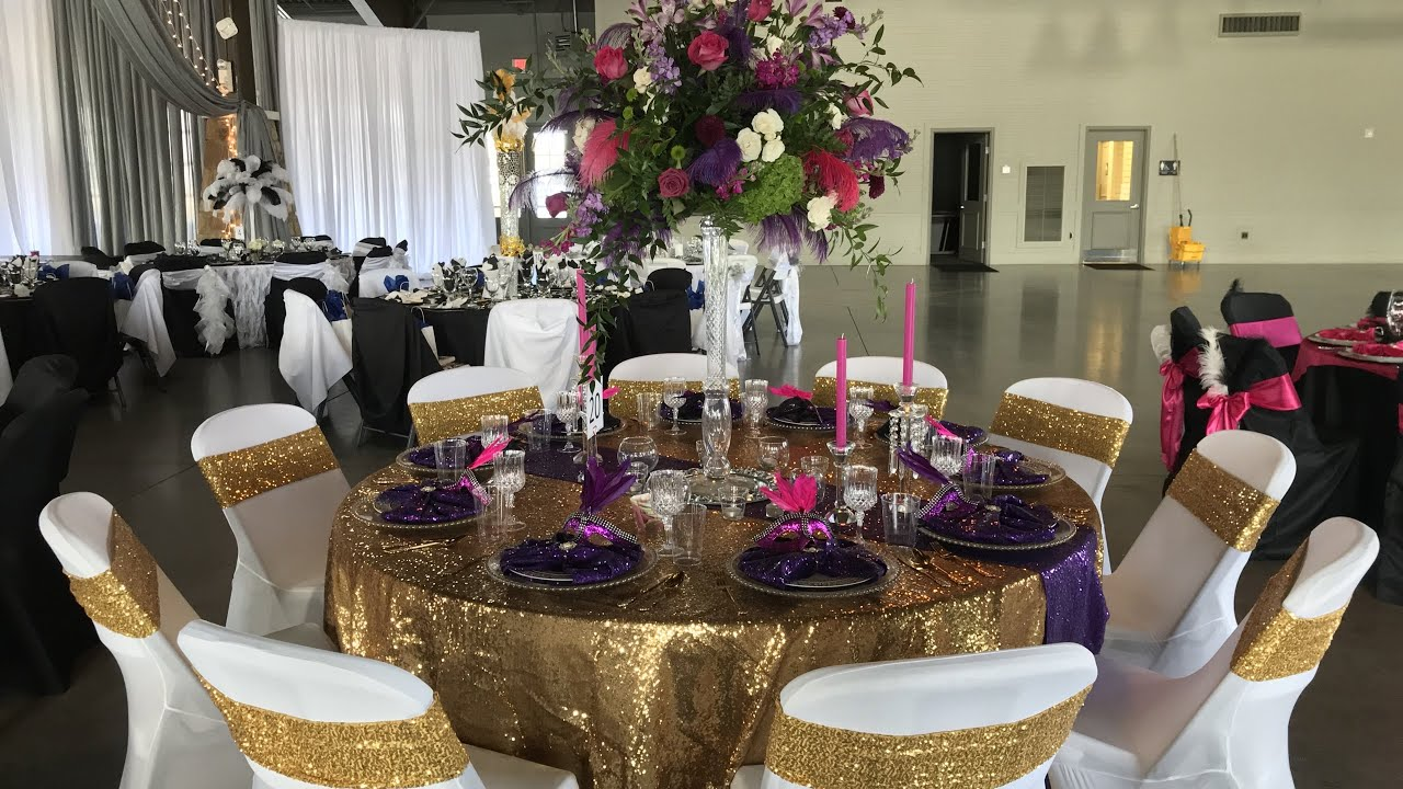 Mardi Gras Inspired Glam Tablescape| How to Decorate for a Masquerade Ball or Birthday Party