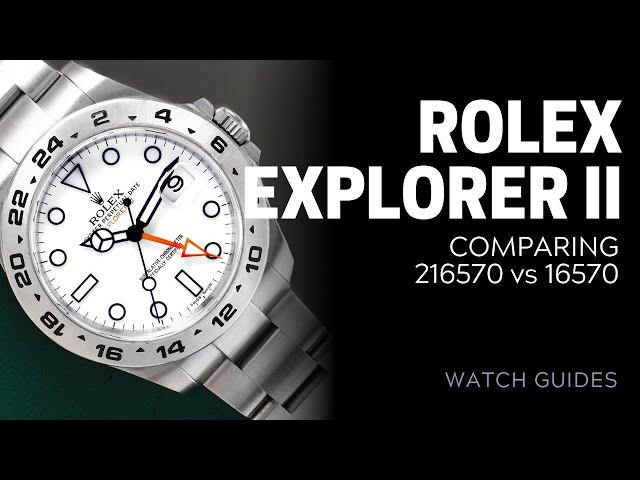 Rolex Explorer II Comparison: 216570 vs 16570 | SwissWatchExpo [Rolex Watches]