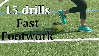 Soccer ball mastery workout --real time fast feet