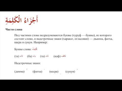 1. Введение в сарф (Арабский язык. Морфология)
