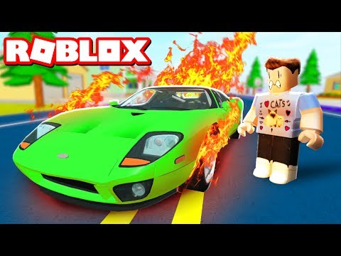 Thumbnail: DESTROYING MY $1,000,000,000 CAR IN ROBLOX