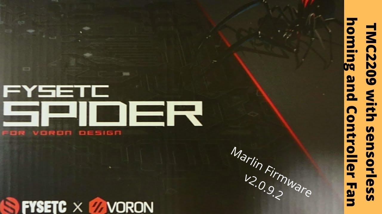 Download Fysetc Spider v1.1 - TMC2209 Sensorless Homing with Controller Fan