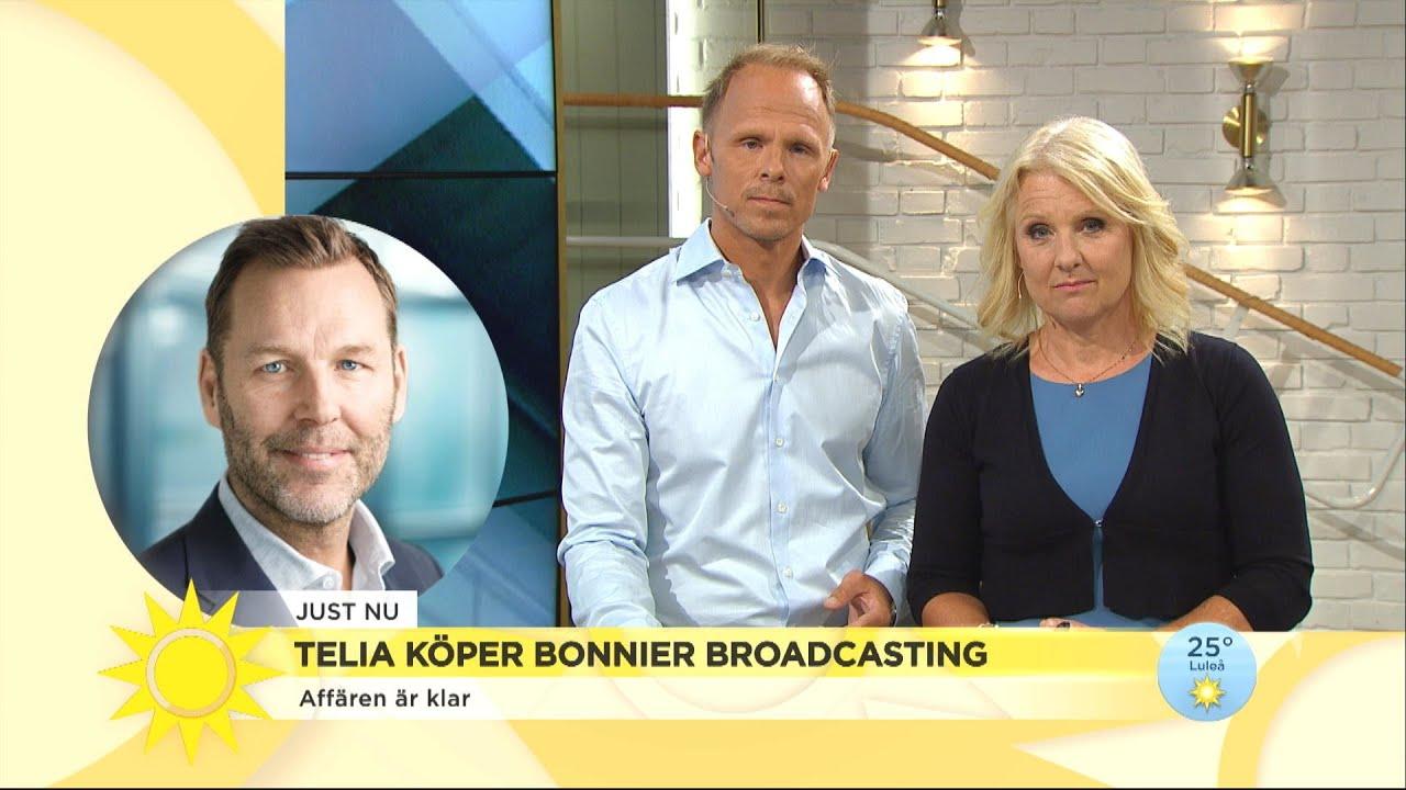 """Telias vd om köpet av Bonnier Broadcasting: """"Jag hoppas staten ser värdet av de - Nyhetsmorgon (TV4)"""