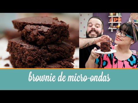 Brownie de micro-ondas (5 ingredientes, pronto em 4 minutos) | Cozinha para 2