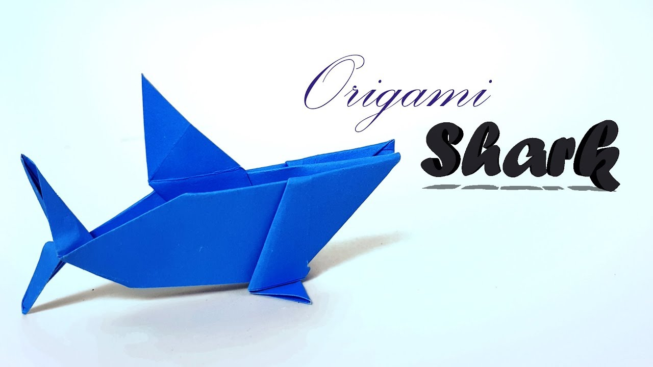 Origami Shark How To Make Shark With Paper Baby Shark For Kid