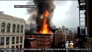 Firefighters Remain On Scene Of East Village Blast, Fire That Left 19 Hurt