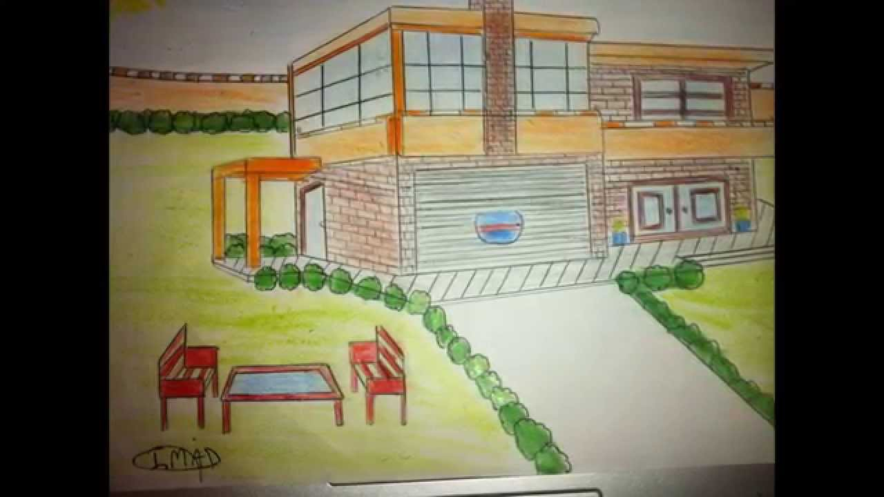 Dessin de l 39 interieur d 39 une maison youtube for Dessiner une maison