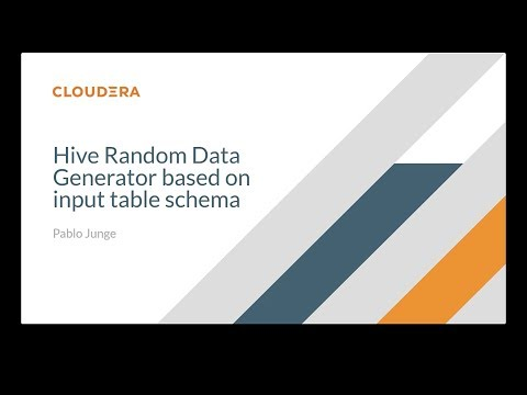 How to generate Hive Random Data based on input data schema 1