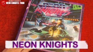 Neon Knights Board Game Box Opening - 1st Copy