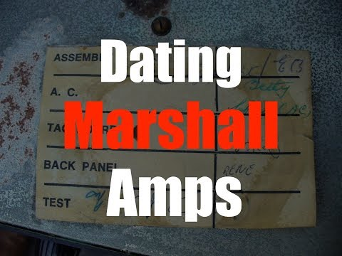 marshall amps dating