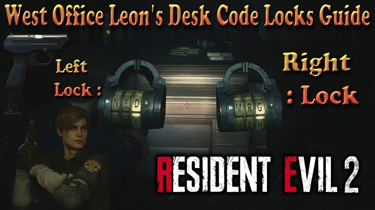 Resident Evil 2 Remake West Office Leon S Desk Code Locks Guide