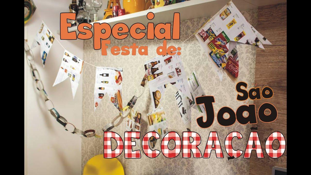 Decoraç u00e3o de S u00e3o Jo u00e3o (Especial Festa Junina) YouTube -> Decoração De Festa Junina Para Escola