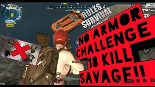 I am not BOT! NO ARMOR CHALLENGE!  Rules of Survival Mr. cupu No: 7