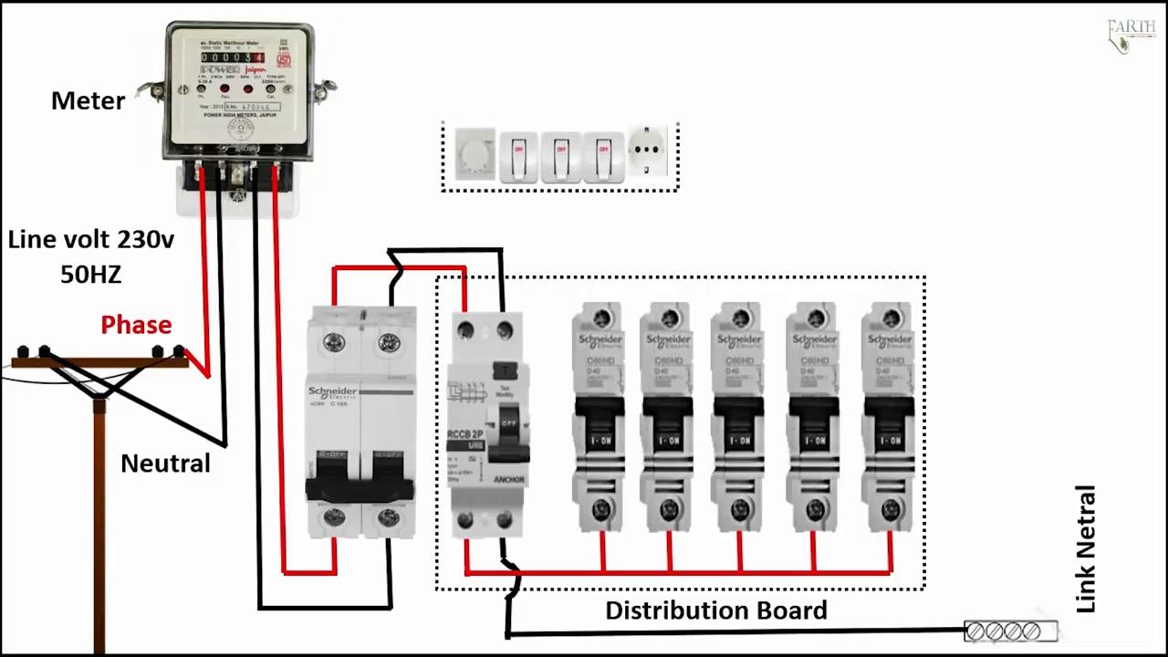 single phase meter wiring diagram energy meter energy ...