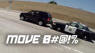 POLICE PUSHES CAR! (Bad Drivers Compilation)