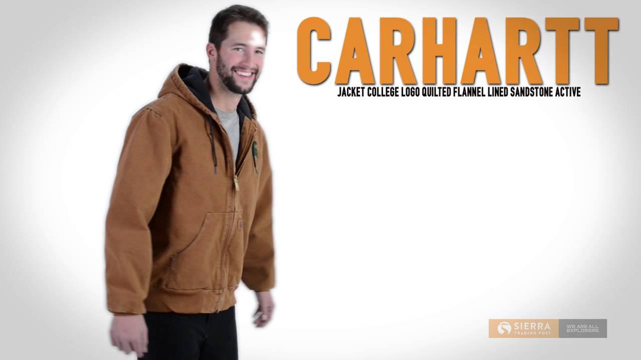 Carhartt College Logo Quilted Sandstone Active Jacket - Flannel ... : carhartt quilted flannel lined jacket - Adamdwight.com