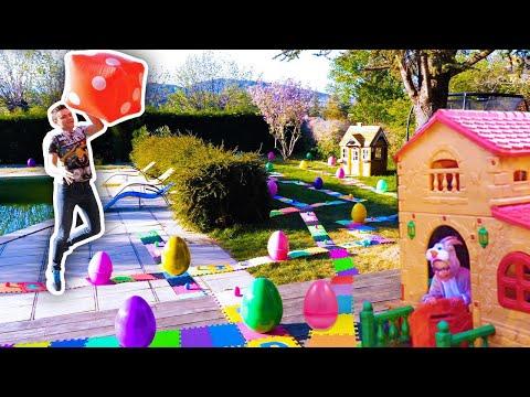 NE JAMAIS SAUTER SUR LA MAUVAISE CASE !!! PÂQUES ÉDITION - Giant Board Game Challenge