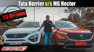 MG Hector vs Tata Harrier Comparison | Hindi | MotorOctane