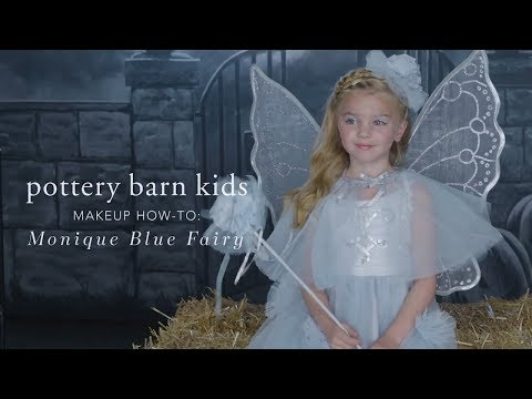 Easy Halloween Makeup Tutorial - Blue Fairy Costume for Pottery Barn Kids