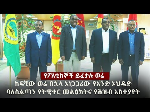 Ethiopia: DW Special News January 3, 2017 | TPLF | OPDO | ANDM | SNNPR