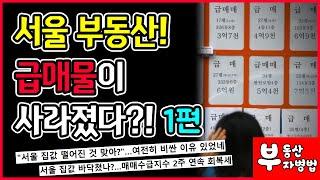 서울 부동산! 급매물이 사라졌다?! 1편