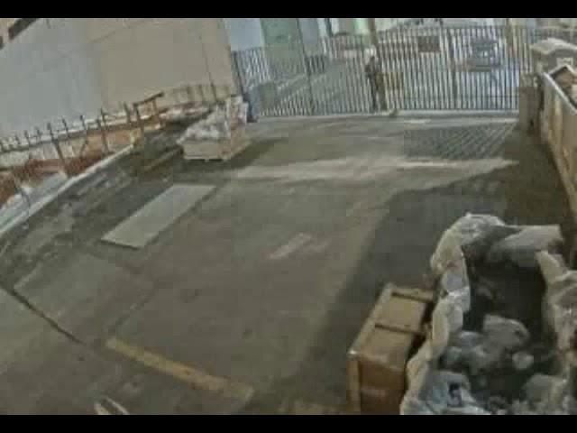 Trespasser caught on cameras