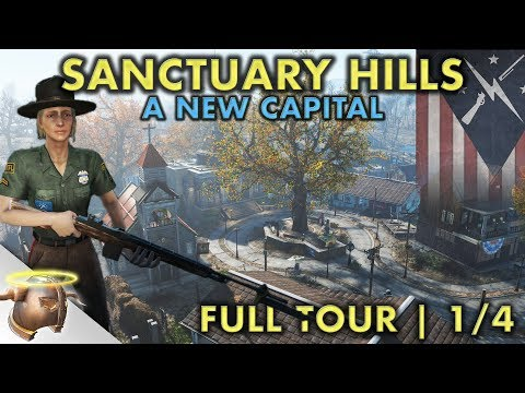 THE CAPITAL OF SANCTUARY HILLS | Part 1 - Huge, realistic Fallout 4 settlement and lore