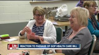 Local reaction to passage of GOP health care bill